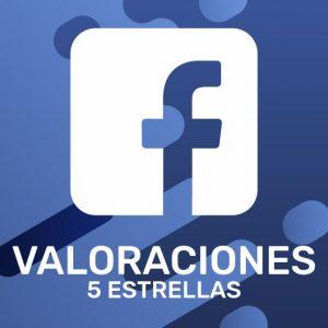 Valoraciones 5 Estrellas Facebook