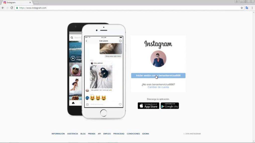 subir fotos a instagram desde un pc
