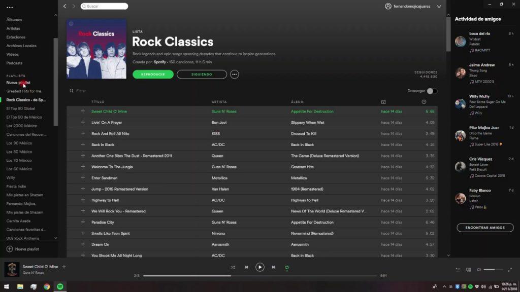 Spotify en PC