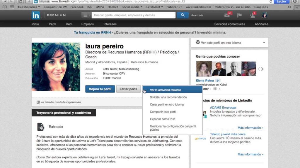 cómo mejorar un perfil de Linkedin