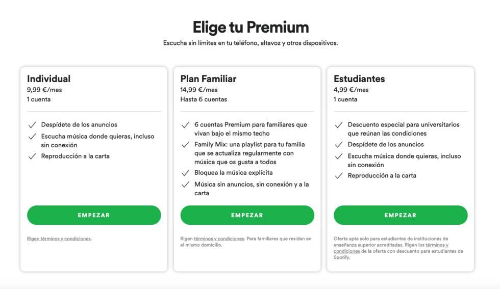 cómo tener Spotify Premium sin pagar