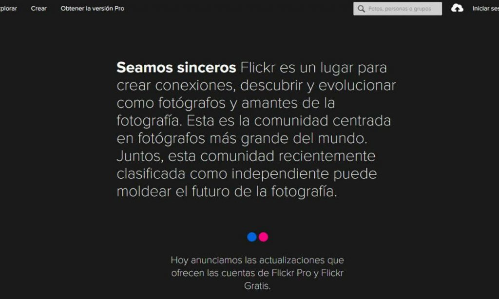 cómo funciona Flickr