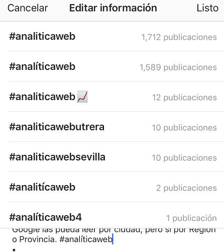 cómo crear un hashtag en Instagram
